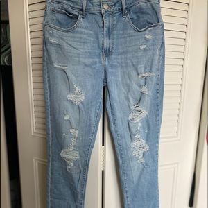 Levi's Strauss 721 Ripped Skinny Jeans